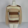 Pulls Courrèges Paris Femme Vintage 1970 marron/beige Taille A