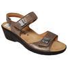 Chaussure sandale Mephisto Air Relax en cuir beige doré P 41 Mod. Maryse