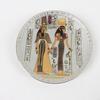Assiette décorative avec peinture fait main Egyptienne