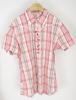 Chemise rose à carreaux