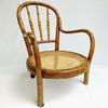 Petite chaise bistrot J & J Kohn - canée et bois courbée