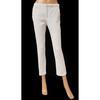 Pantalon Zara Basic T S blanc motif floral en relief