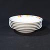 Lot de 6 assiettes creuses en porcelaine