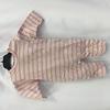 Pyjama body rose à rayure doré T6mois - Grain de blé
