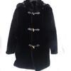Manteau femme avec capuche en fourrure noir - 40