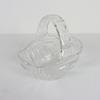 Bocal en verre en forme de panier sculpté main