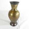 vase en métal gravé
