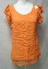 T-shirt orange en coton - Laklook - taille S