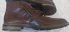 chaussure boots fourrées en cuir marron Rieker 40