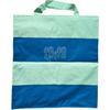 Sac Shopping Bleu électrique Croisillon Vert Anis 38x38cm