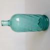 Bouteille de siphon ancienne en verre bleu