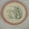 Assiette ancienne en faïence de Sarreguemines motif