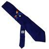 Cravate Collector France 98 Coupe du monde en soie bleu nuit motif Footix