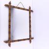 Miroir bois effet bambou ancien