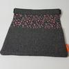 Matières recyclées : Housse de tablette en tweed doublée coton fleuri