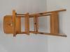 chaise haute enfant/poupée transformable chariot de marche en bois