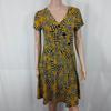 Robe neuve imprimée moutarde - Plus Collection - taille 38