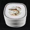 12 Assiettes poisson Longchamp