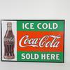 Plaque publicitaire  Coca-Cola Ice Cold