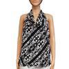 Top tunique blouse LPB T S/M imprimé noir et écru