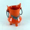 Pot céramique années 70 orange