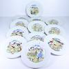 Lot de 12 assiettes à fromage - porcelaine régions de France
