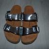 Sandales BACKSUN Femme Argenté Taille 37 Cuir NEUF