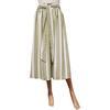 Neuf & étiquette Jupe Monoprix T 40 en coton et lin rayures vert amande