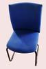 Chaise plastique écru et aluminium