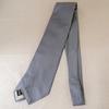 Cravate en soie argentée à carreaux