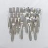 Lot de 18 grandes cuillères et fourchettes en métal argenté