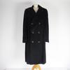 Manteau noir en soie, laine Smalto L