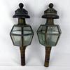 Paire d'appliques en laiton lanternes de fiacre