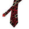 Cravate Paco Rabanne en soie noire à motifs graphiques