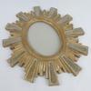 Cadre ou miroir soleil en bois doré vintage