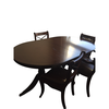 Table à manger - Bois exotique + 6 chaises - Assise en cuire