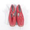 Chaussure femme en cuir rouge