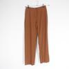 Pantalon marron en laine Courrèges S
