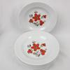 Lot de 7 assiettes creuses Bavaria - décor fleuri vintage