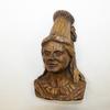 Sculpture en bois tete de femme