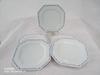 Lot de 5 assiettes plates, porcelaine de Limoge, vintage français