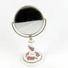 Petit miroir sur pied en porcelaine vintage