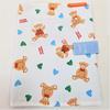 Zéro-déchet enfant : Protège carnet de santé + 7 lingettes lavables Oeko-Tex GOTS - Nounours
