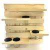 Kit étagère coulissante bois recyclé avec 4 étagères assorties et 4 pots