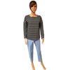 Neuf & étiquette Marinière Tee shirt Monoprix rayures blanches et noires T 1