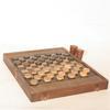 Ancien jeu de Dames et Jacquet en bois - Grand format 56x44 cm