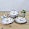 Assiettes à dessert en porcelaine Limoges