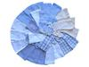 Calendrier de l'Avent botte de lutin tissu bleu