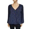 Top blouse tunique Morgan T 38  imprimé bleu marine