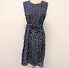 Robe bleue marine fleurie - XL - Femme